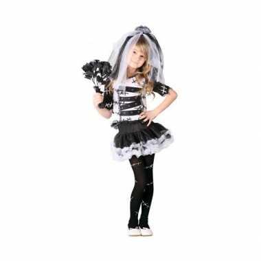 Zombie bruid meisjes carnavalskleding zwart wit online