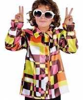 Carnavalskleding gekleurde disco baby blouse online