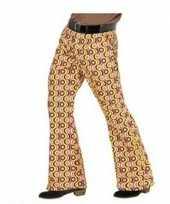 Carnavalskleding gekleurde hippie heren broek xxl online