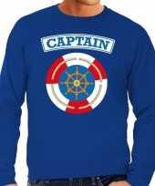 Carnavalskleding kapitein captain verkleed trui blauw heren online