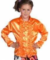 Carnavalskleding oranje blouse rouches kids online