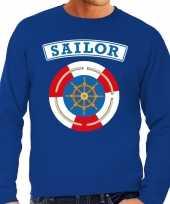 Carnavalskleding zeeman sailor verkleed trui blauw heren online
