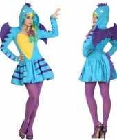 Scarnavalskleding blauwe draak dames online
